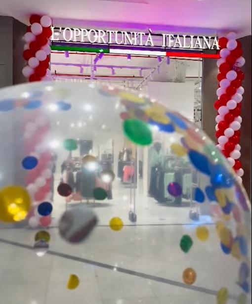 افتتاح لوبورتونيتا ايطاليانا في مجمع فالي سنتر